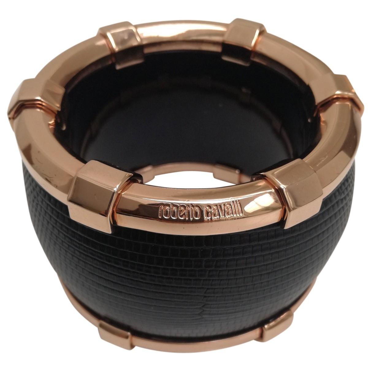 Roberto Cavalli - Bracelet   pour femme en lezard - noir