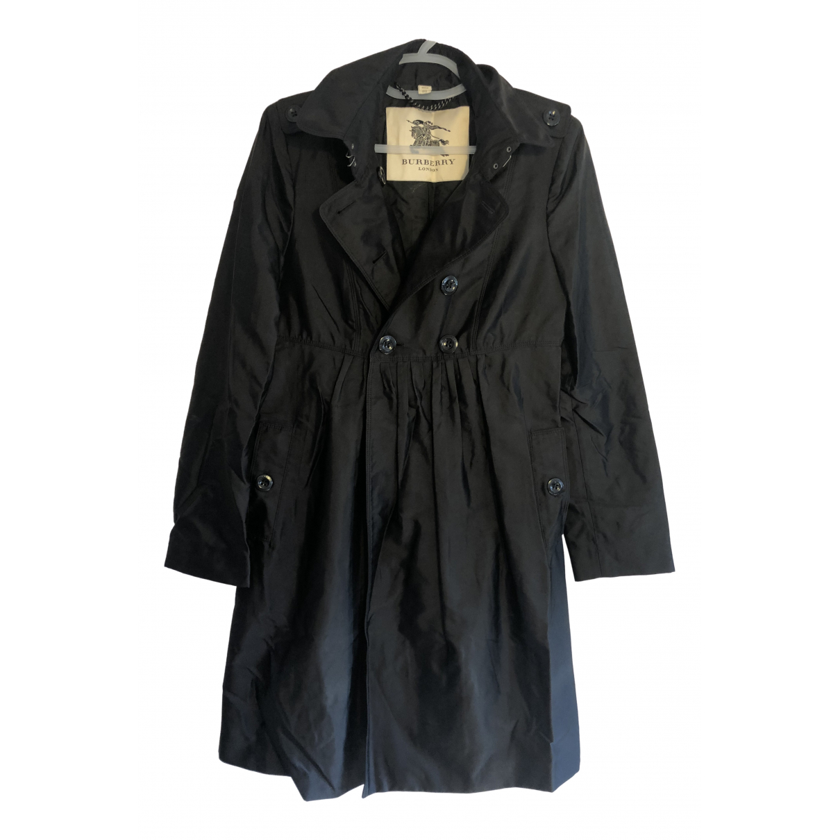 Burberry - Trench   pour femme en soie - noir