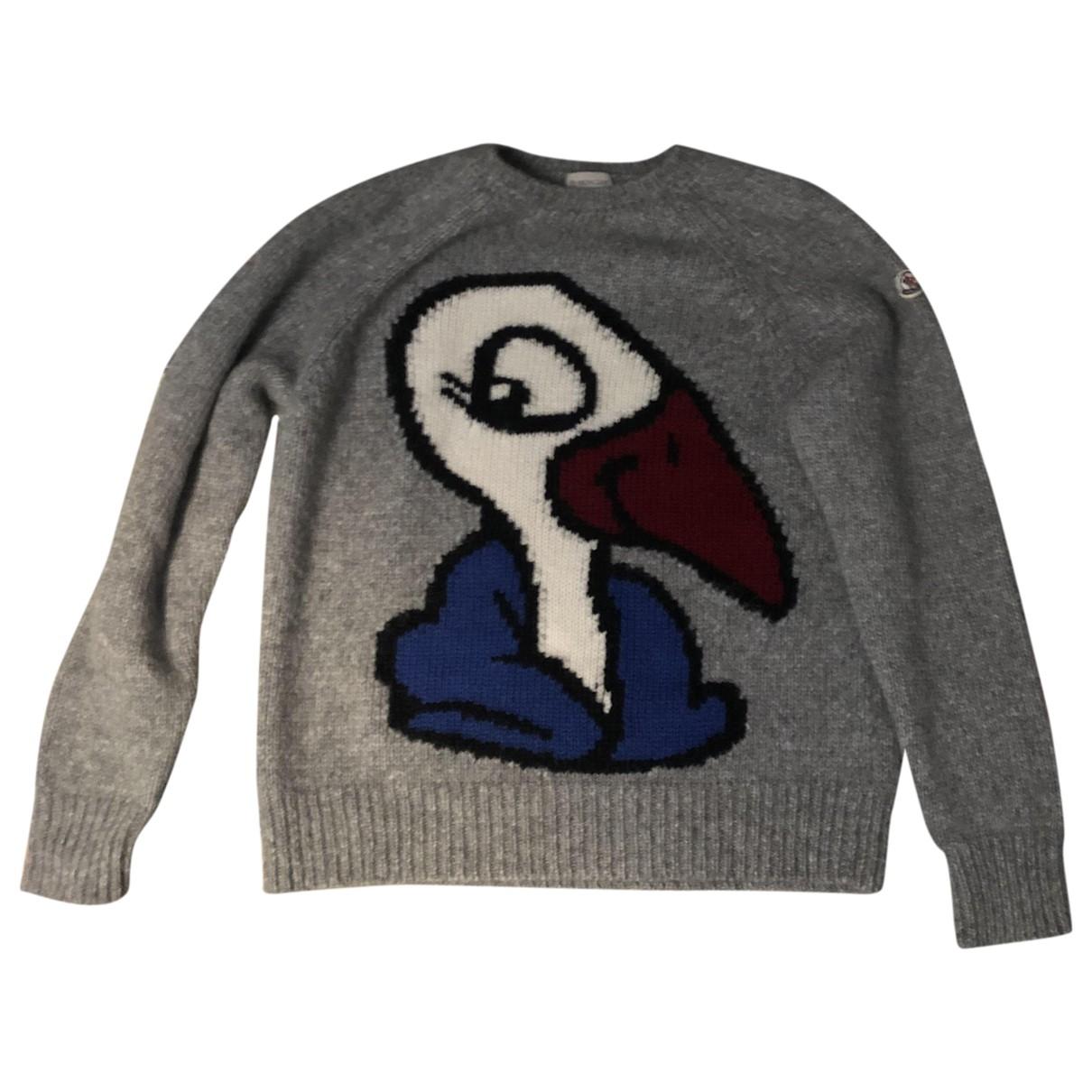 Moncler \N Pullover.Westen.Sweatshirts  in  Grau Wolle