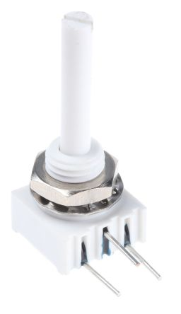 Vishay 1 Gang Rotary Cermet Potentiometer with an 3 mm Dia. Shaft - 5kΩ, ±10%, 0.5W Power Rating, Linear, Panel Mount