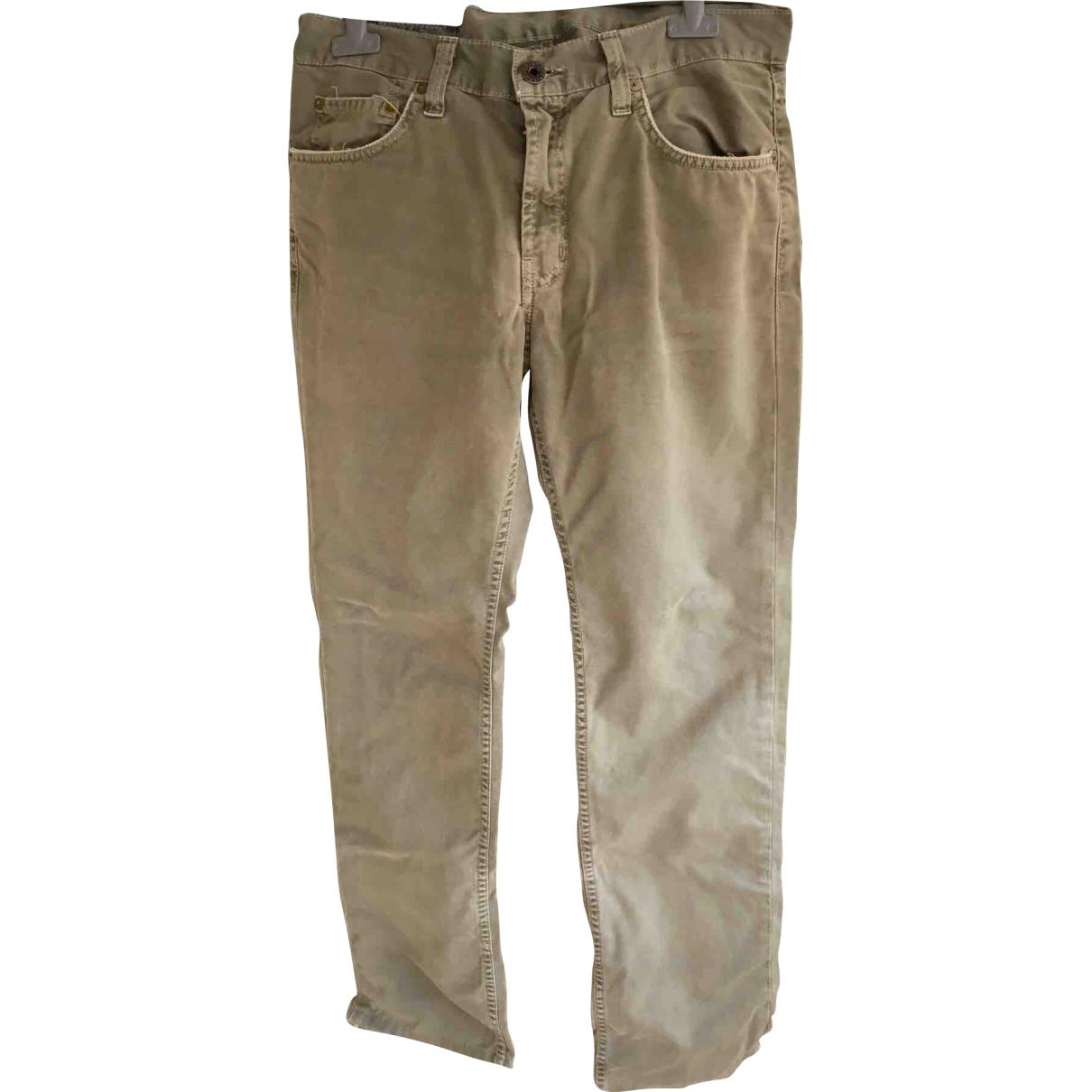 J Brand \N Khaki Cotton Trousers for Men 30 UK - US