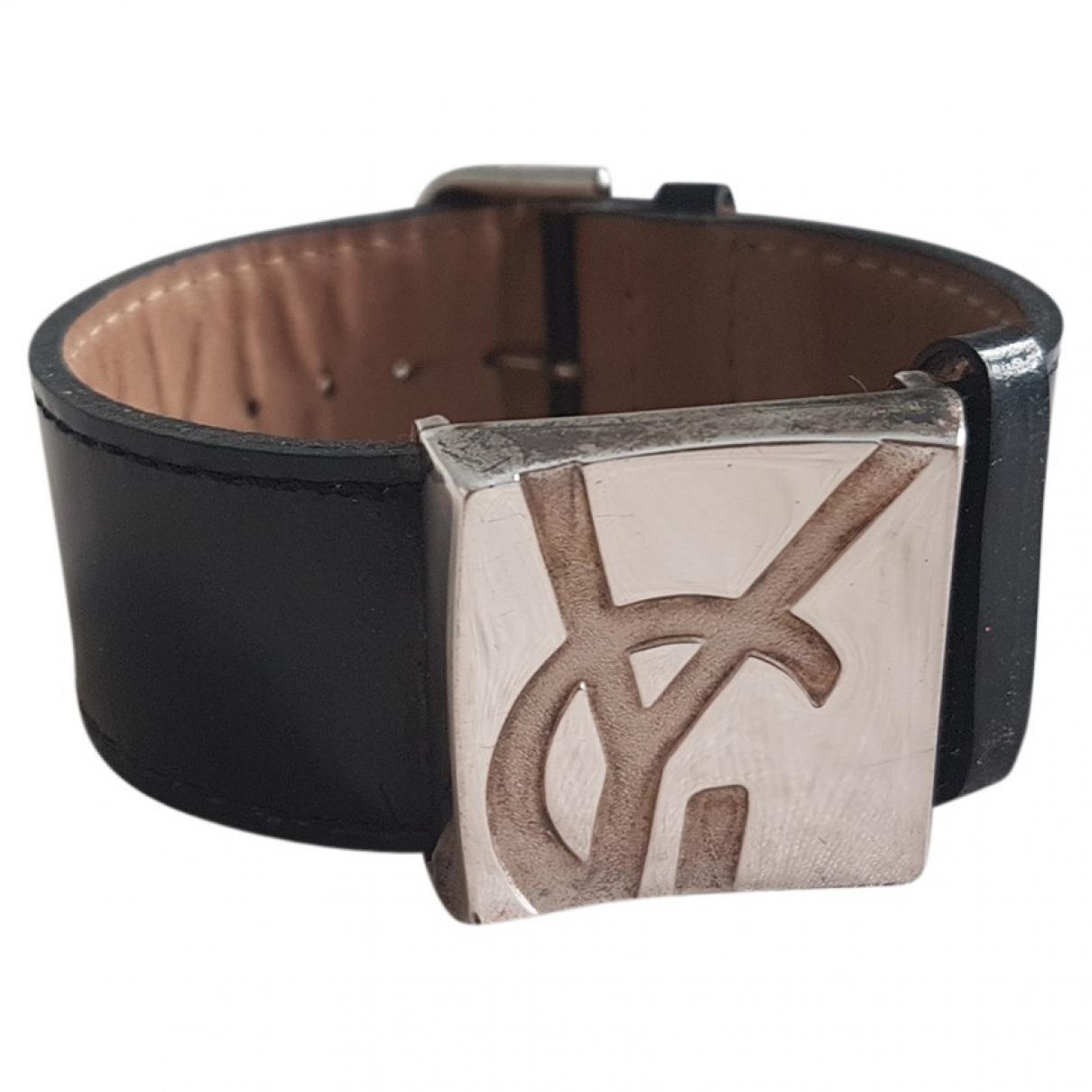 Yves Saint Laurent \N Armband in  Schwarz Silber