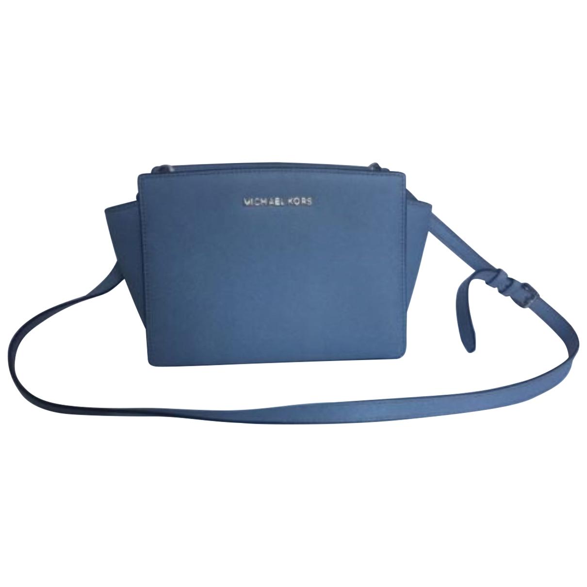 Michael Kors Selma Blue Leather handbag for Women \N