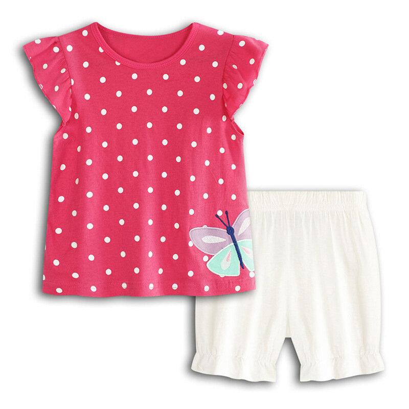 Butterfly Dot Printed Girls Short Set For 0-24M