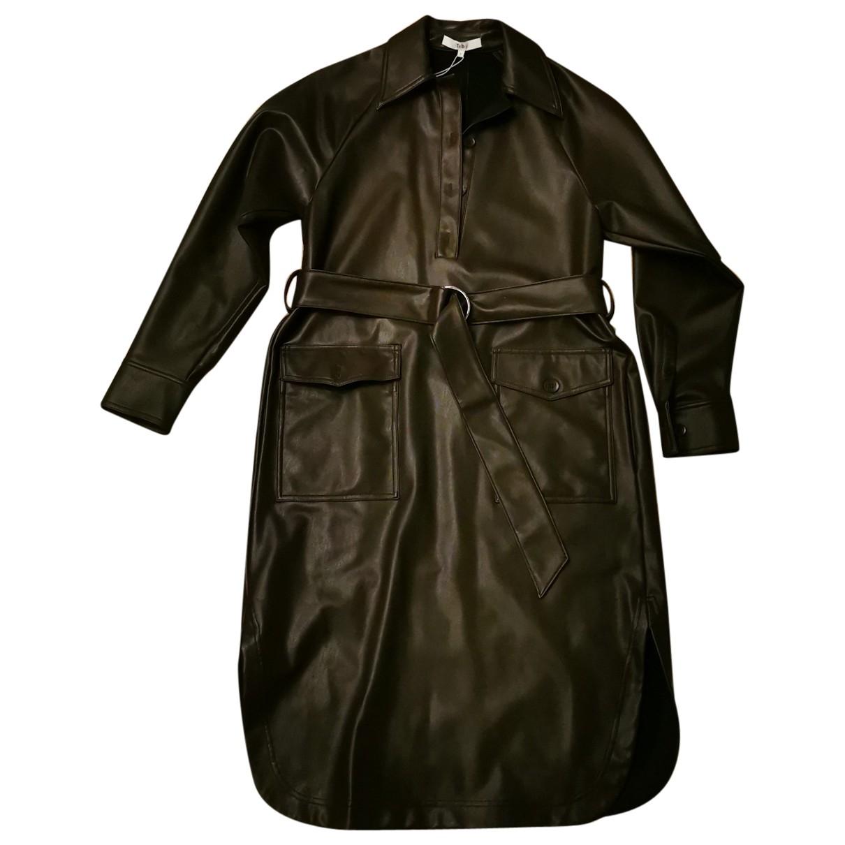 Tibi \N Kleid in  Braun Leder