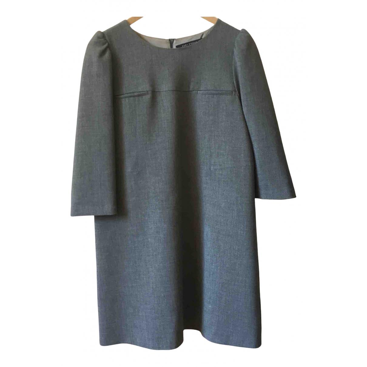 Zara - Robe   pour femme - gris