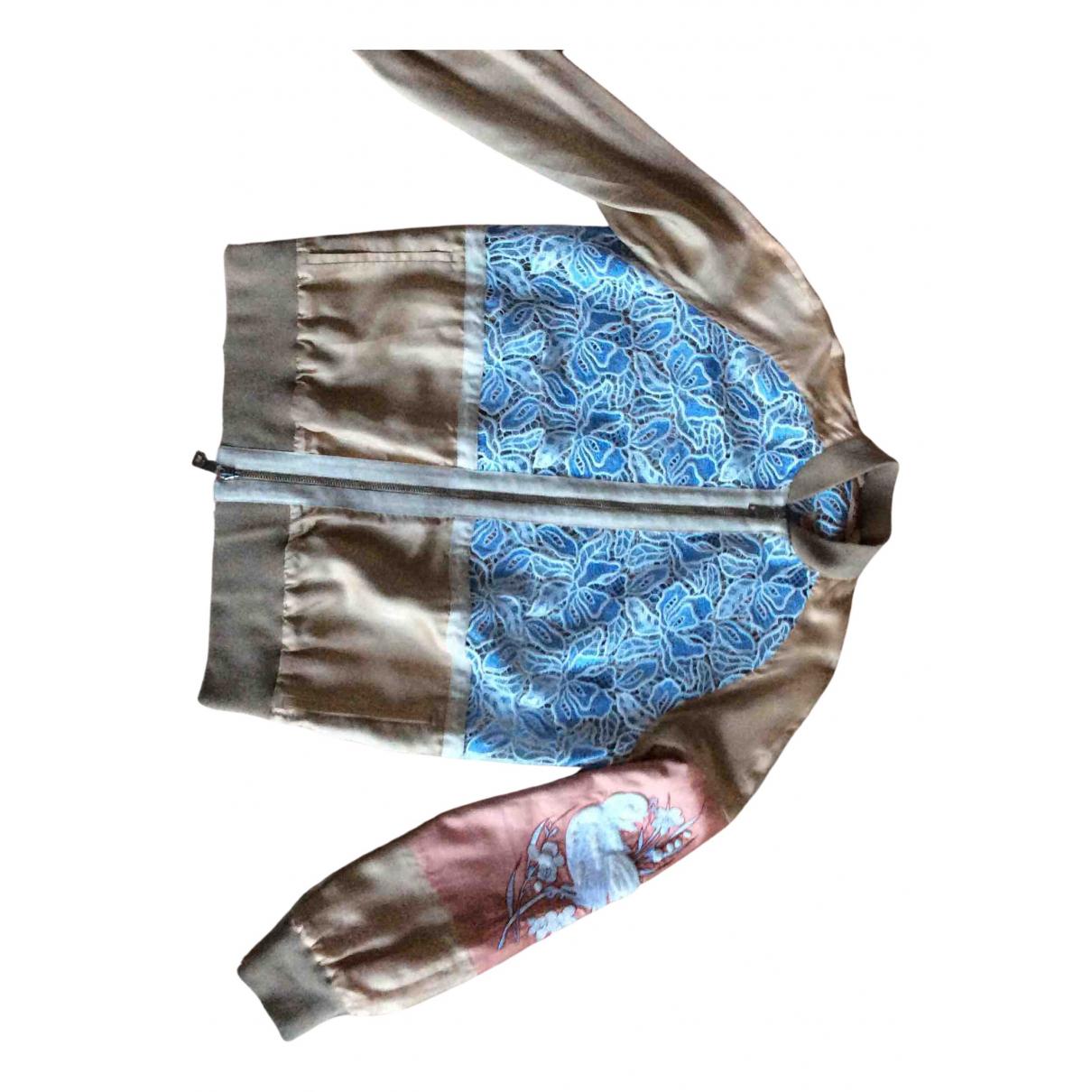 N°21 N Beige Leather jacket for Women 40 IT