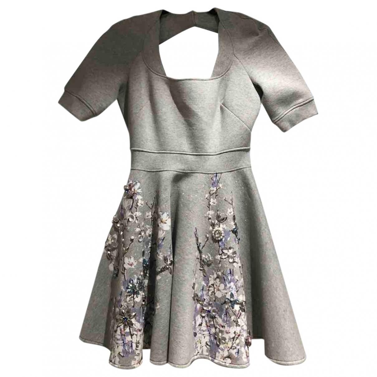 Philipp Plein \N Kleid in  Grau Baumwolle
