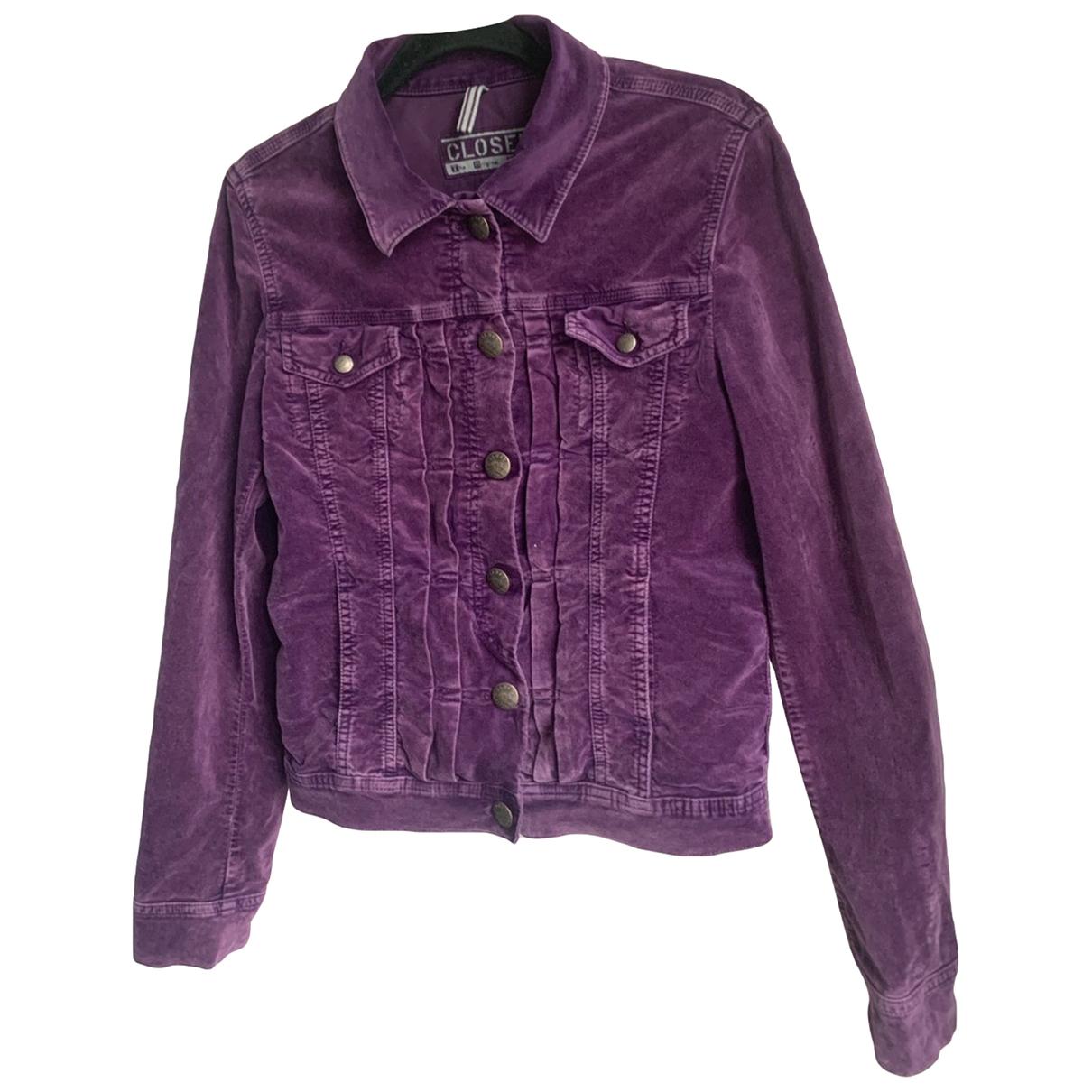 Closed - Veste   pour femme en denim - violet