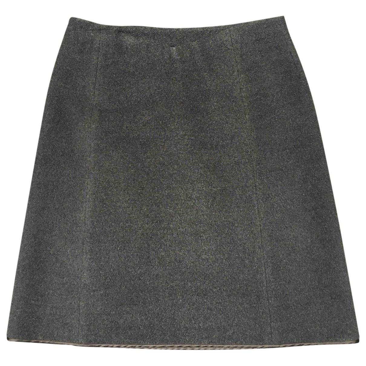 Miu Miu \N Grey Wool skirt for Women 40 IT