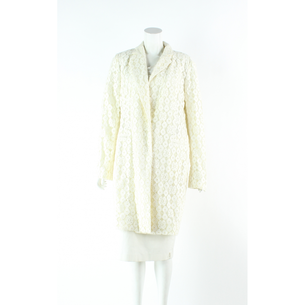 Moschino Cheap And Chic - Trench   pour femme en coton - ecru