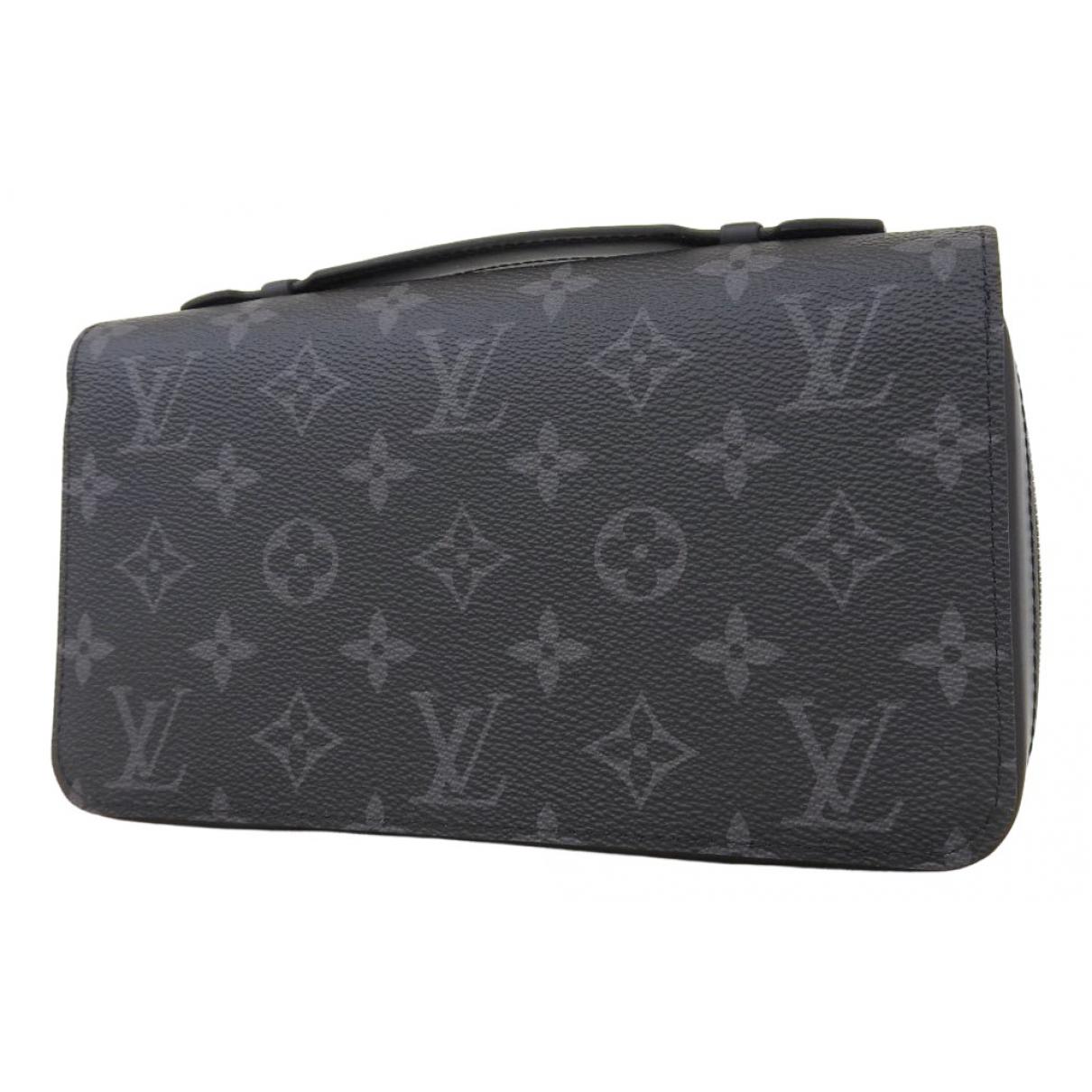 Louis Vuitton - Petite maroquinerie Zippy XL pour homme en toile - gris
