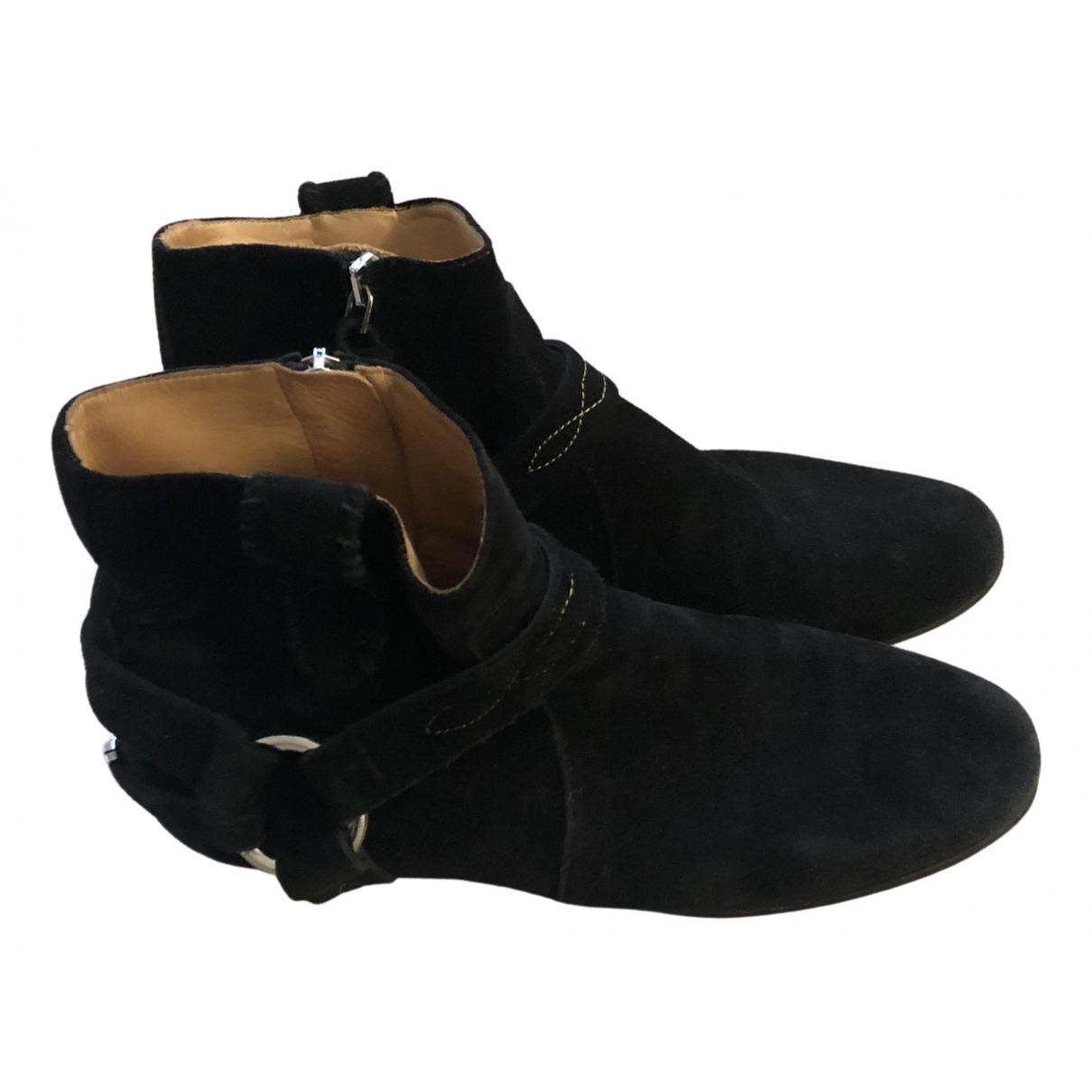 Isabel Marant - Boots Gaucho pour femme en suede - noir