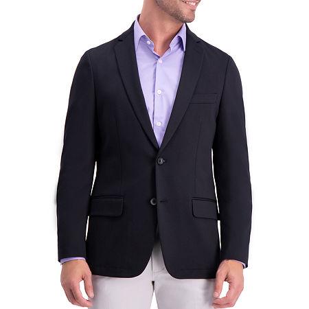 Haggar Mens Stretch Slim Fit Sport Coat, 40 Long, Black