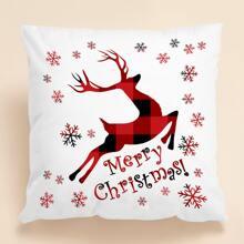 Weihnachten Kissenbezug mit Hirsch Muster ohne Fuellstoff