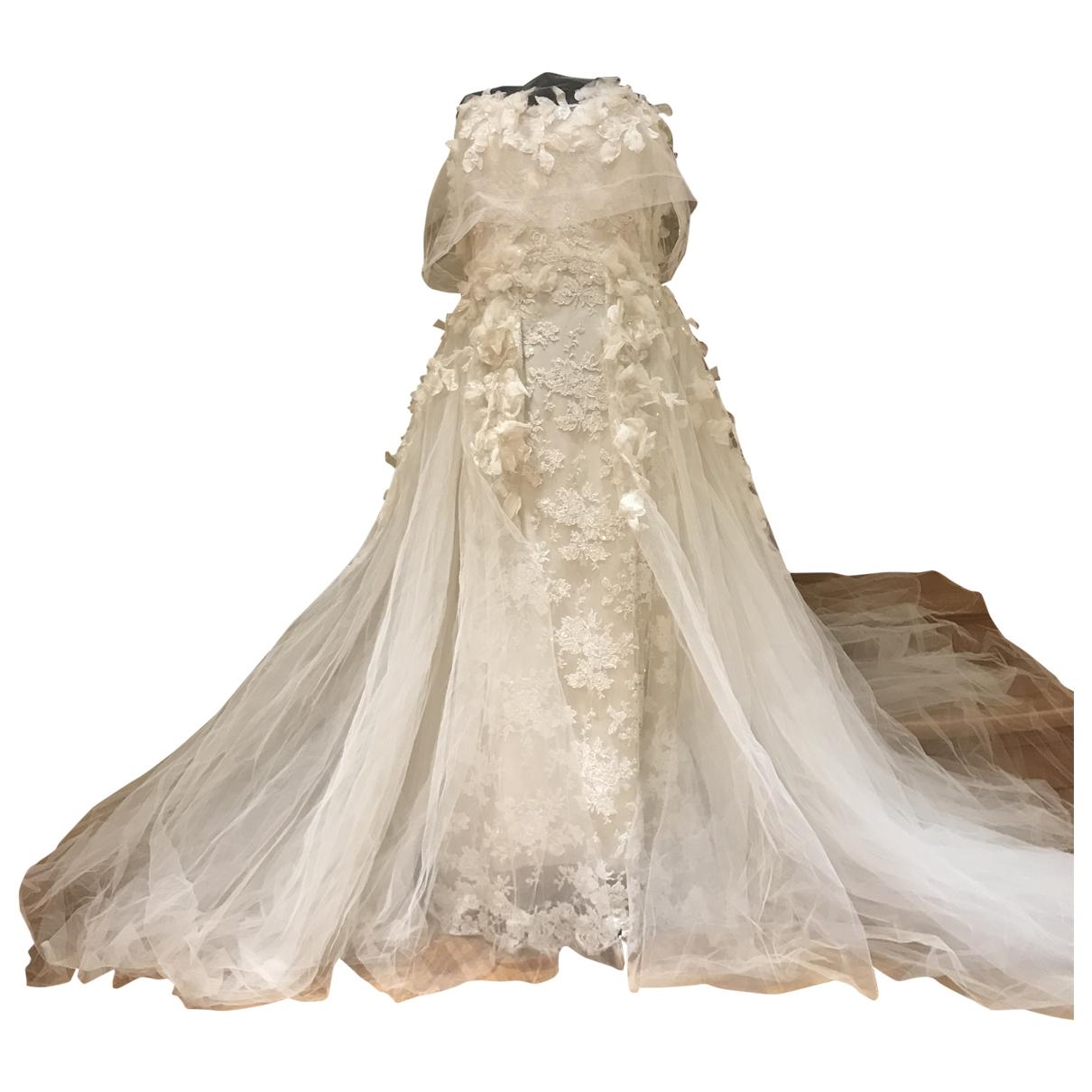 Elie Saab \N Kleid in  Weiss Seide