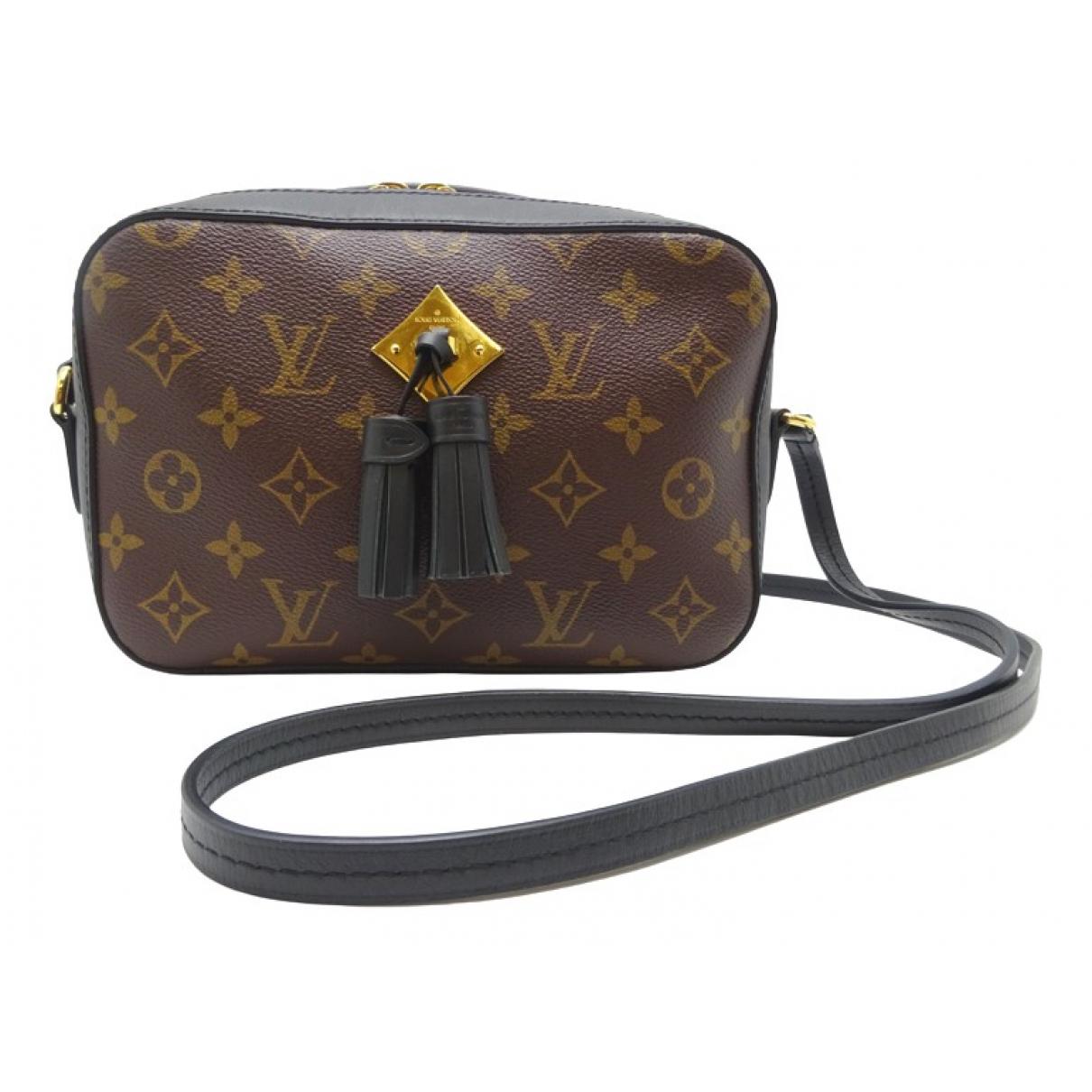 Louis Vuitton - Sac a main Saintonge pour femme en toile - marron