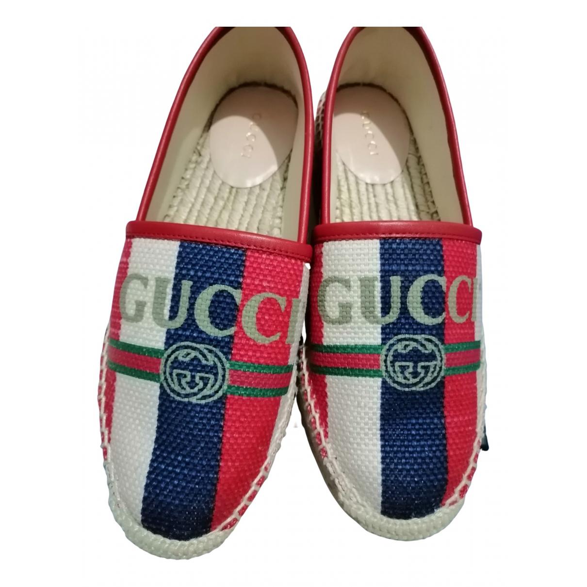 Gucci - Espadrilles   pour femme en toile - camel