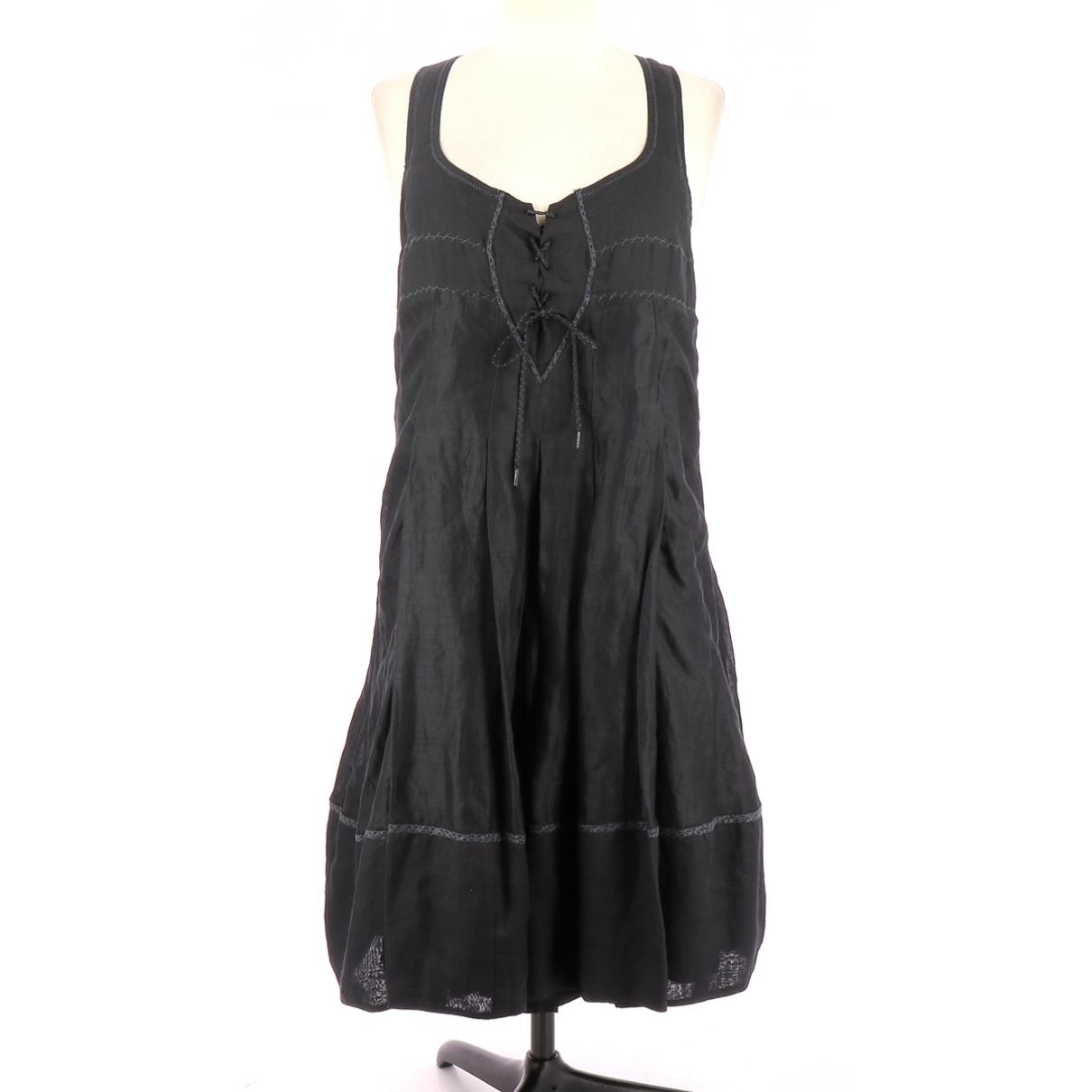 Non Signé / Unsigned \N Black Linen dress for Women 36 FR