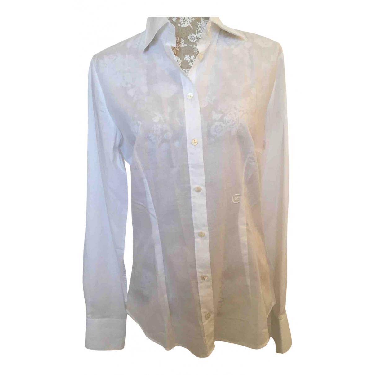 Cerruti - Top   pour femme en coton - blanc