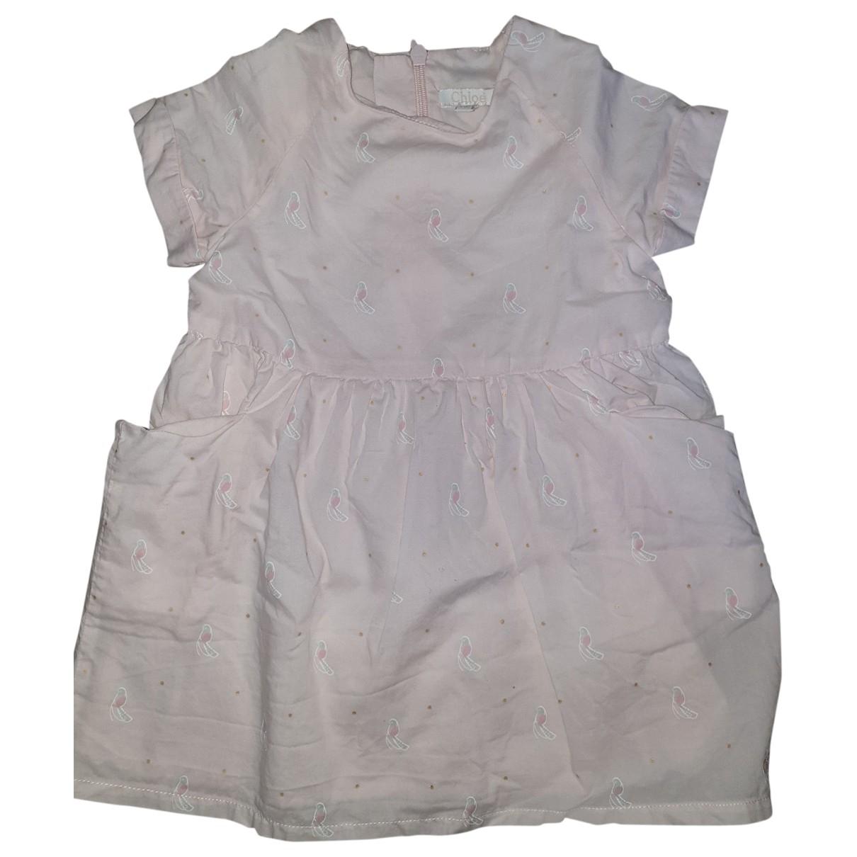 Chloe \N Kleid in  Rosa Baumwolle