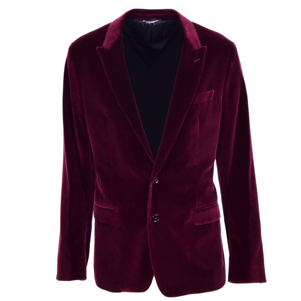 Dolce & Gabbana - Vestes.Blousons   pour homme en velours - bordeaux
