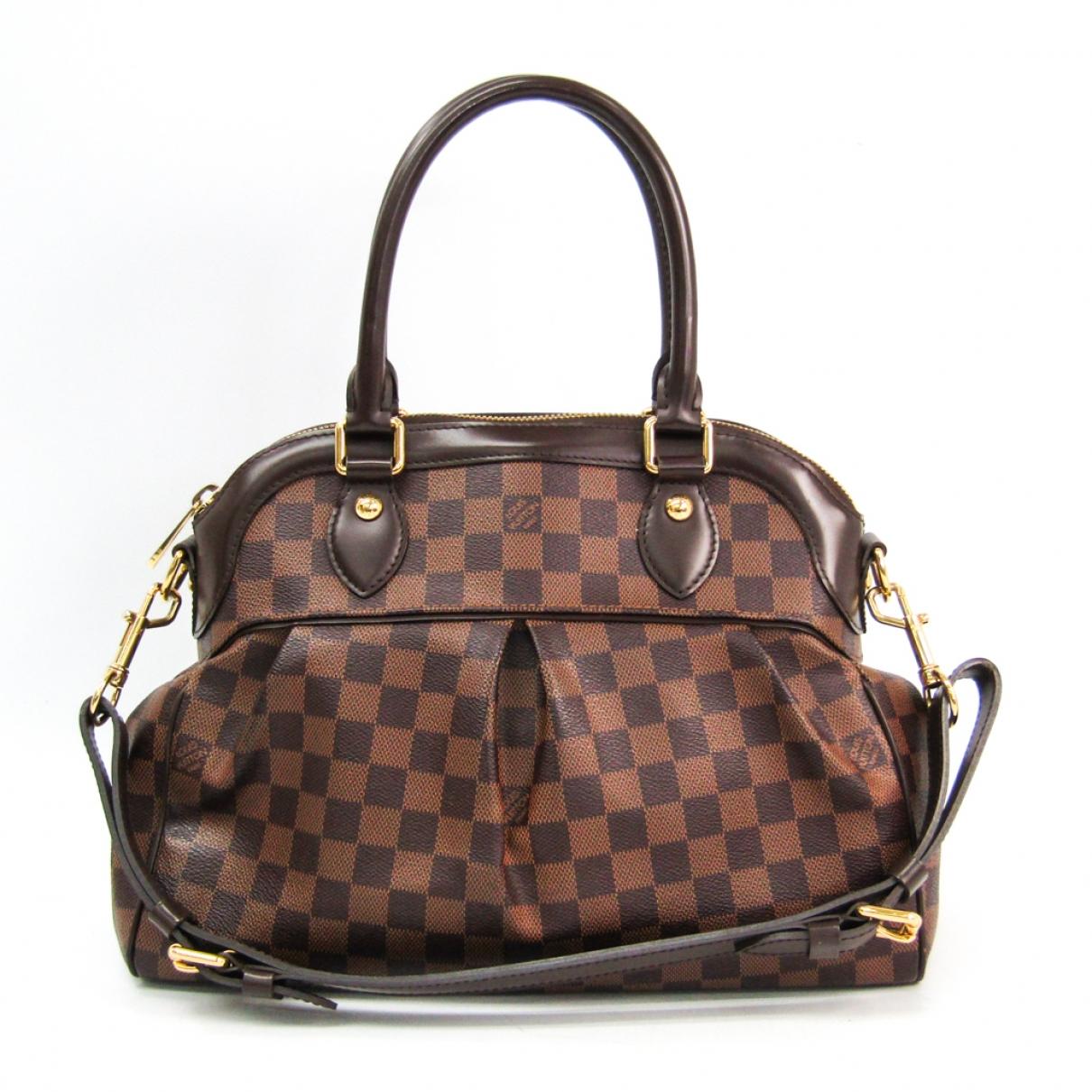 Louis Vuitton Trevi Black Cloth handbag for Women \N