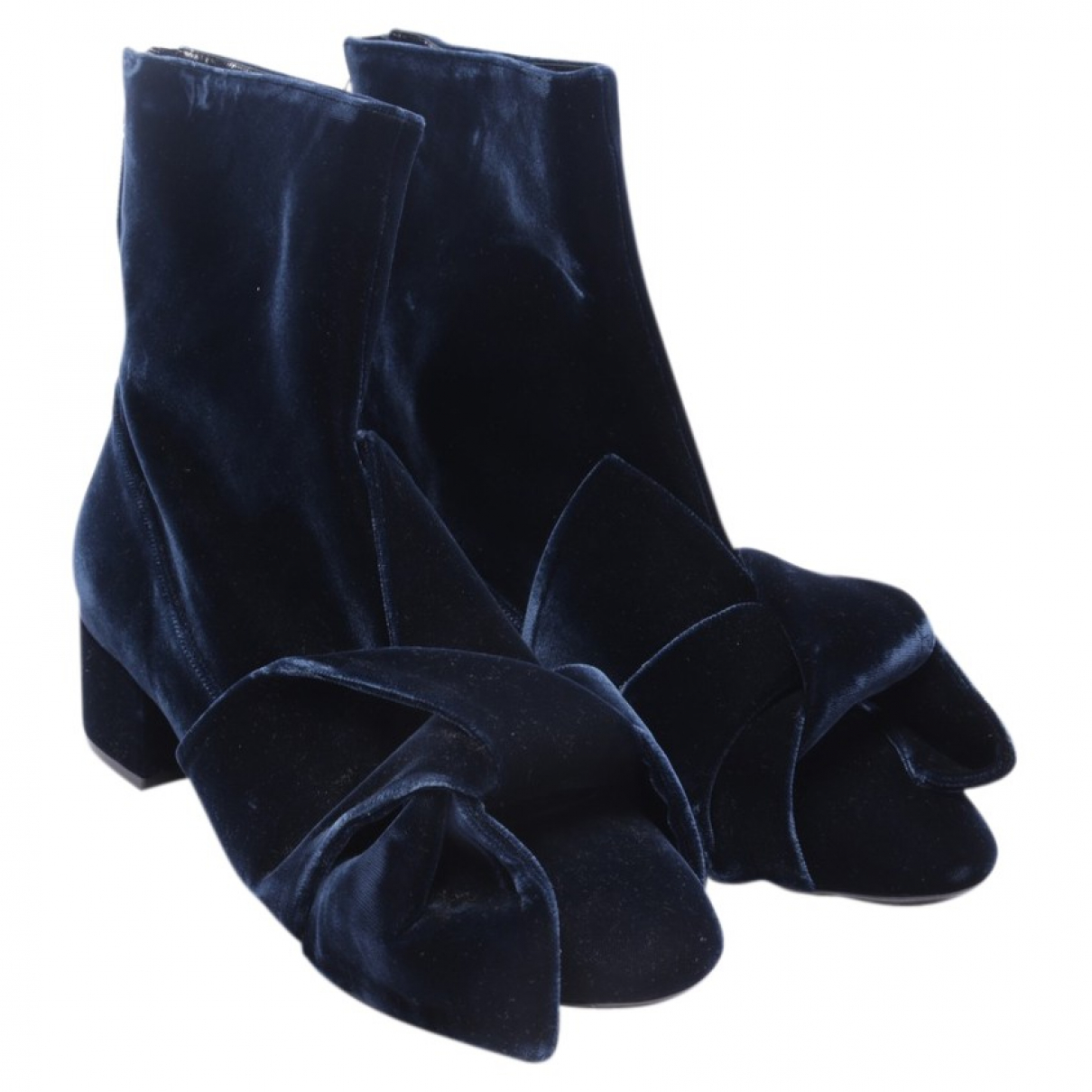 N°21 \N Blue Leather Ankle boots for Women 40 EU