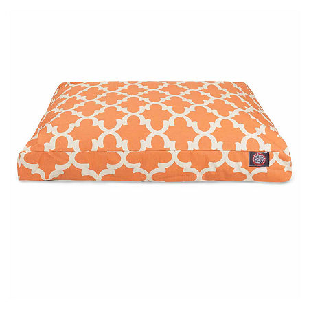 Majestic Pet Trellis Rectangle Pet Bed, One Size , Orange