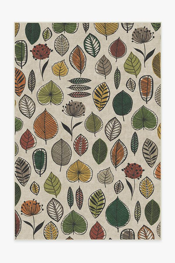 Washable Rug Cover & Pad   Folium Multicolor Rug   Stain-Resistant   Ruggable   6'x9'