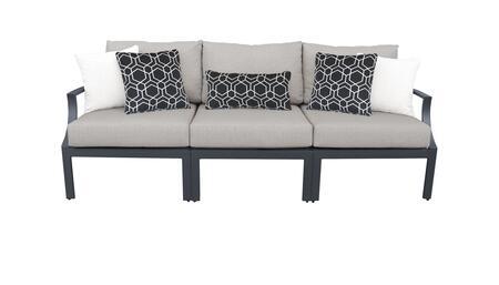 Lexington LEXINGTON-03c 3-Piece Aluminum Patio Set 03c with Left Arm Chair  Armless Chair and Right Arm Chair - 1 Ash