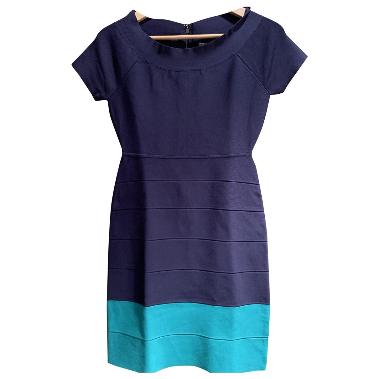 Bcbg Max Azria \N Kleid in  Marine Synthetik