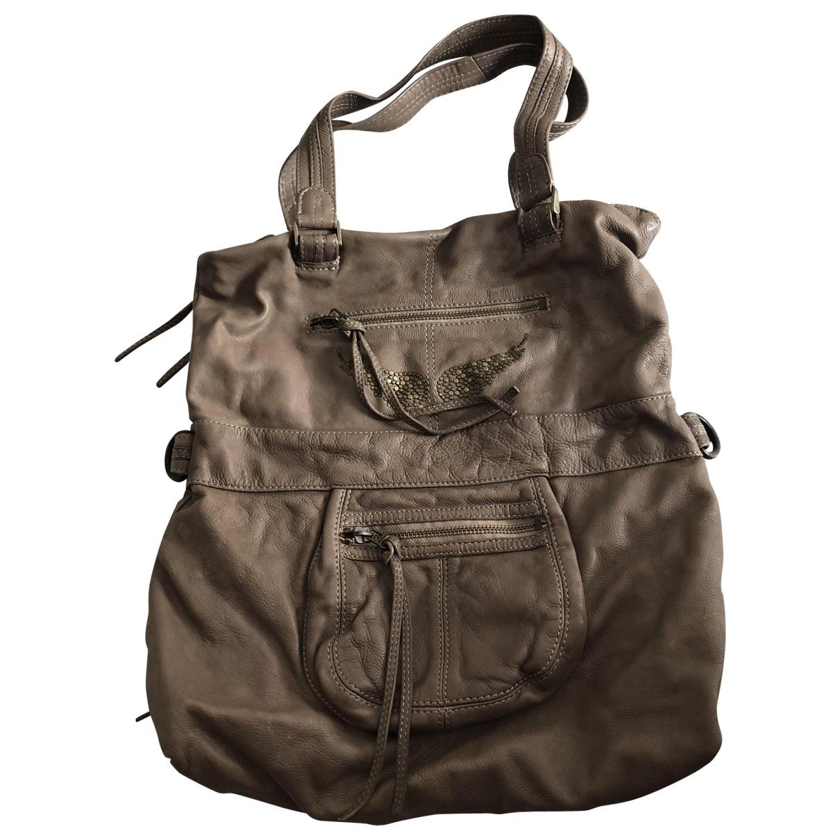 Zadig & Voltaire \N Camel Leather handbag for Women \N
