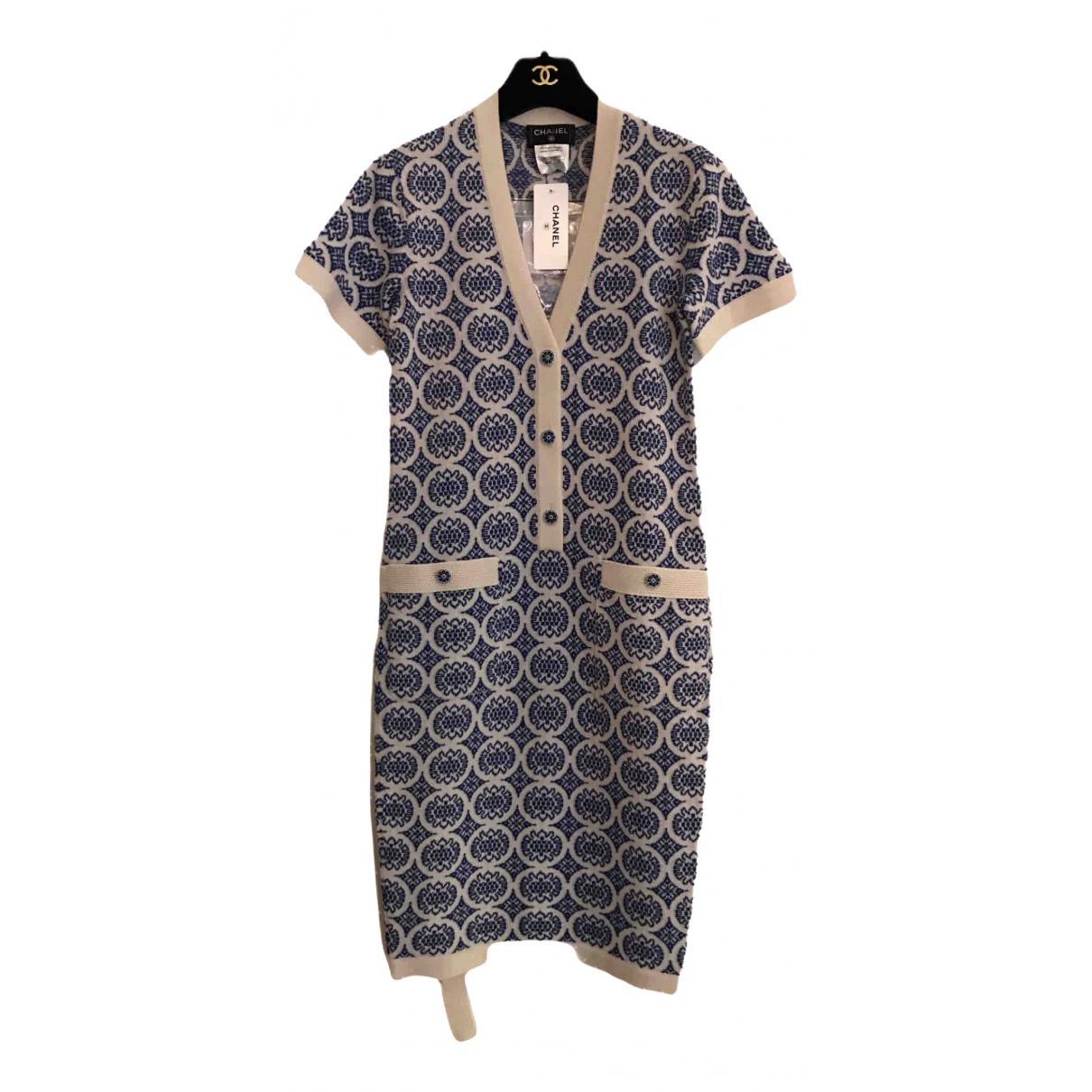 Chanel N Blue Cashmere dress for Women 34 FR