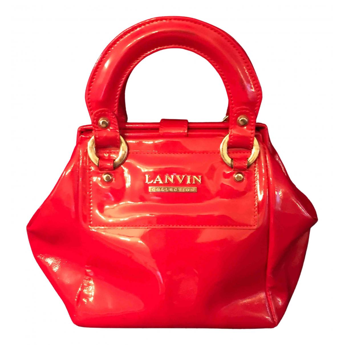 Lanvin - Sac a main   pour femme en cuir verni - rouge