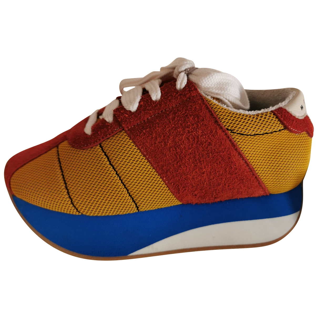 Marni - Baskets   pour femme en suede - multicolore