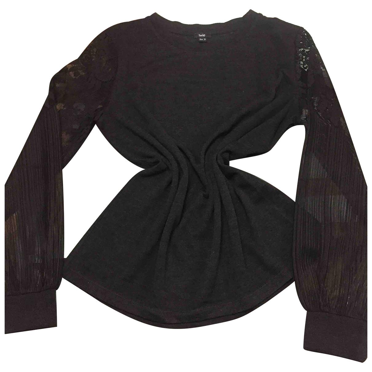 Non Signé / Unsigned Manche ballon Grey Knitwear for Women M International