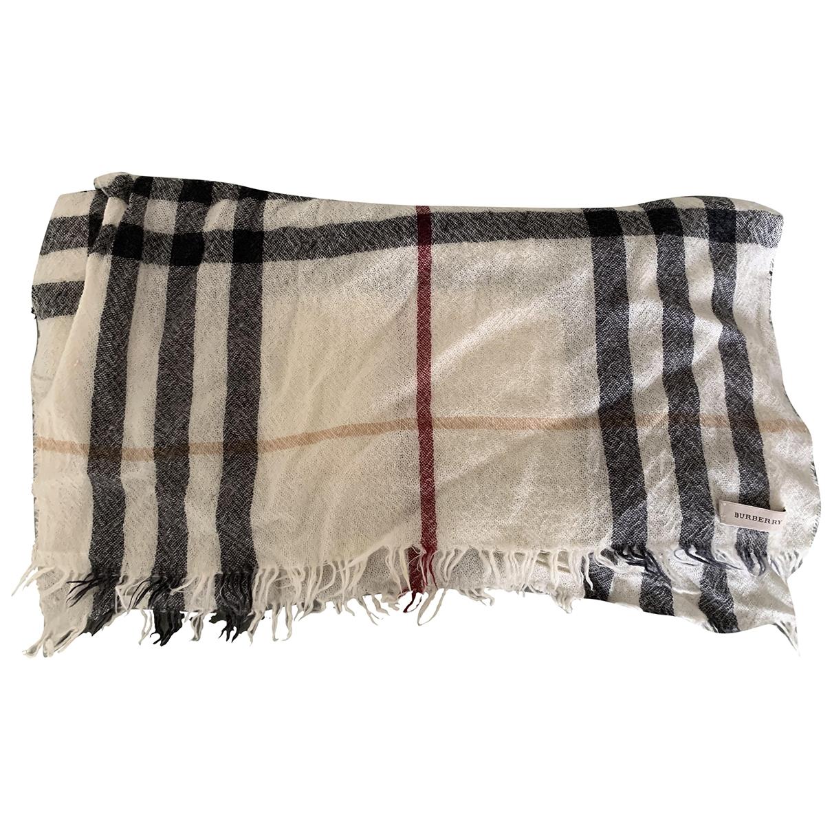 Burberry - Foulard   pour femme en laine - blanc