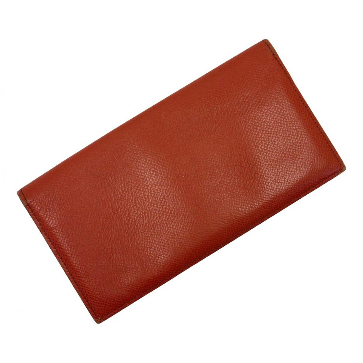 Hermes - Petite maroquinerie   pour homme en cuir - rouge