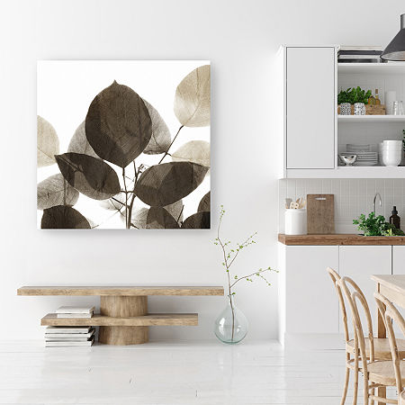 Chocolate Leaves 1 Canvas Art, One Size , Brown