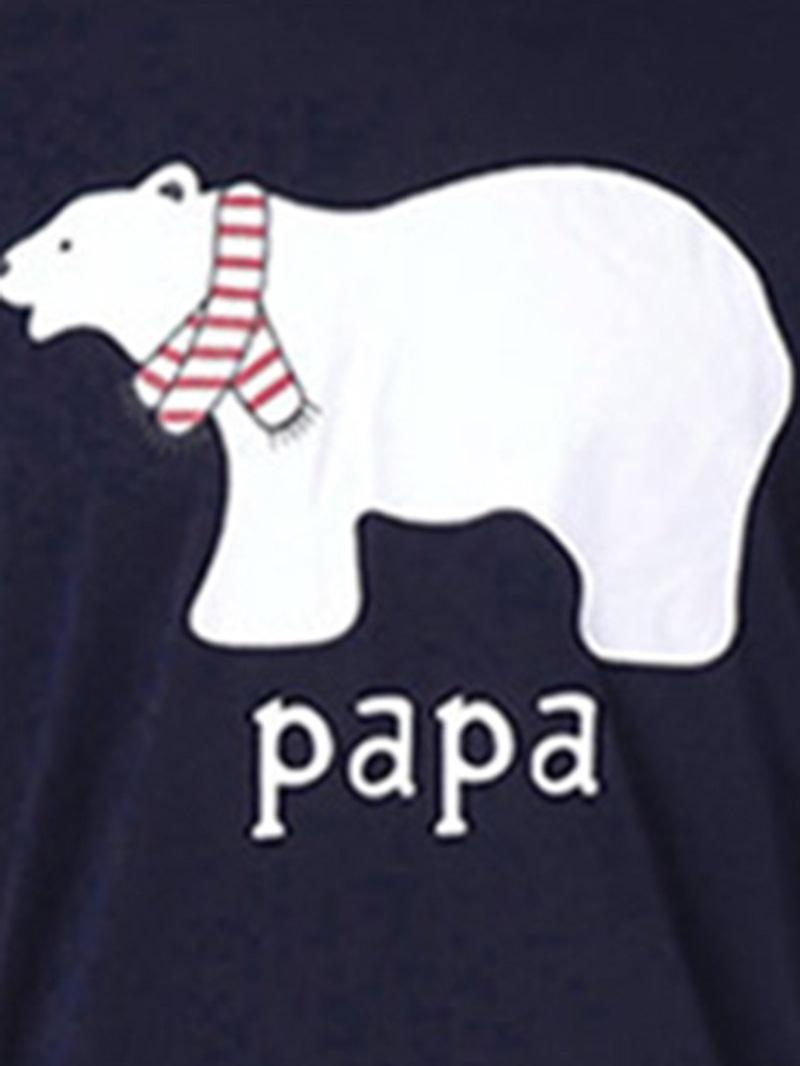 Ericdress Christmas Bear Letter Print Family Pajamas