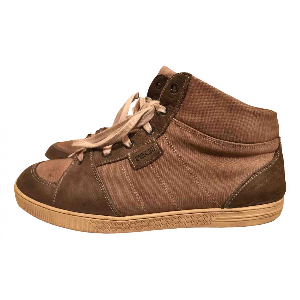 Fendi \N Brown Leather Trainers for Women 40.5 EU