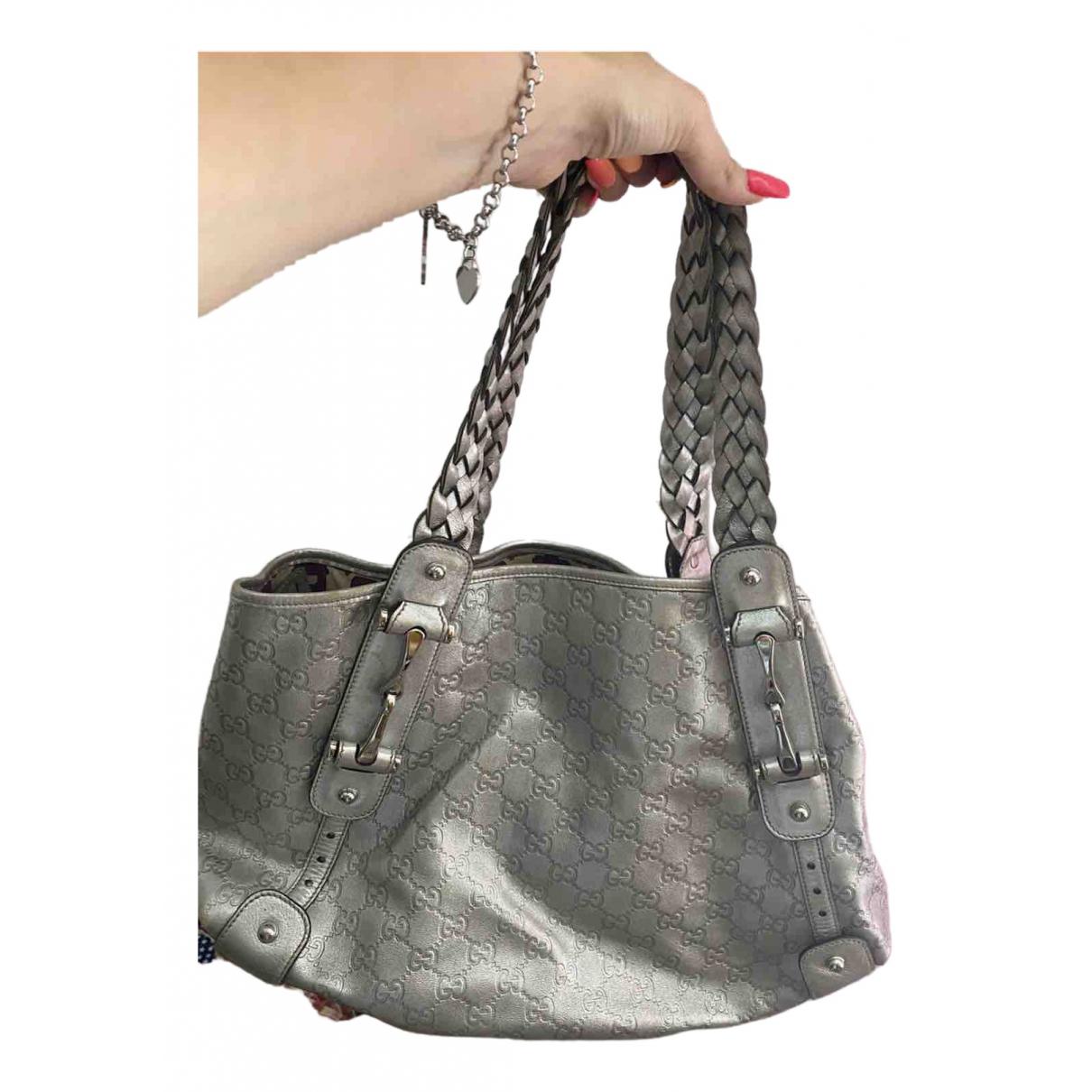 Gucci \N Silver Leather handbag for Women \N