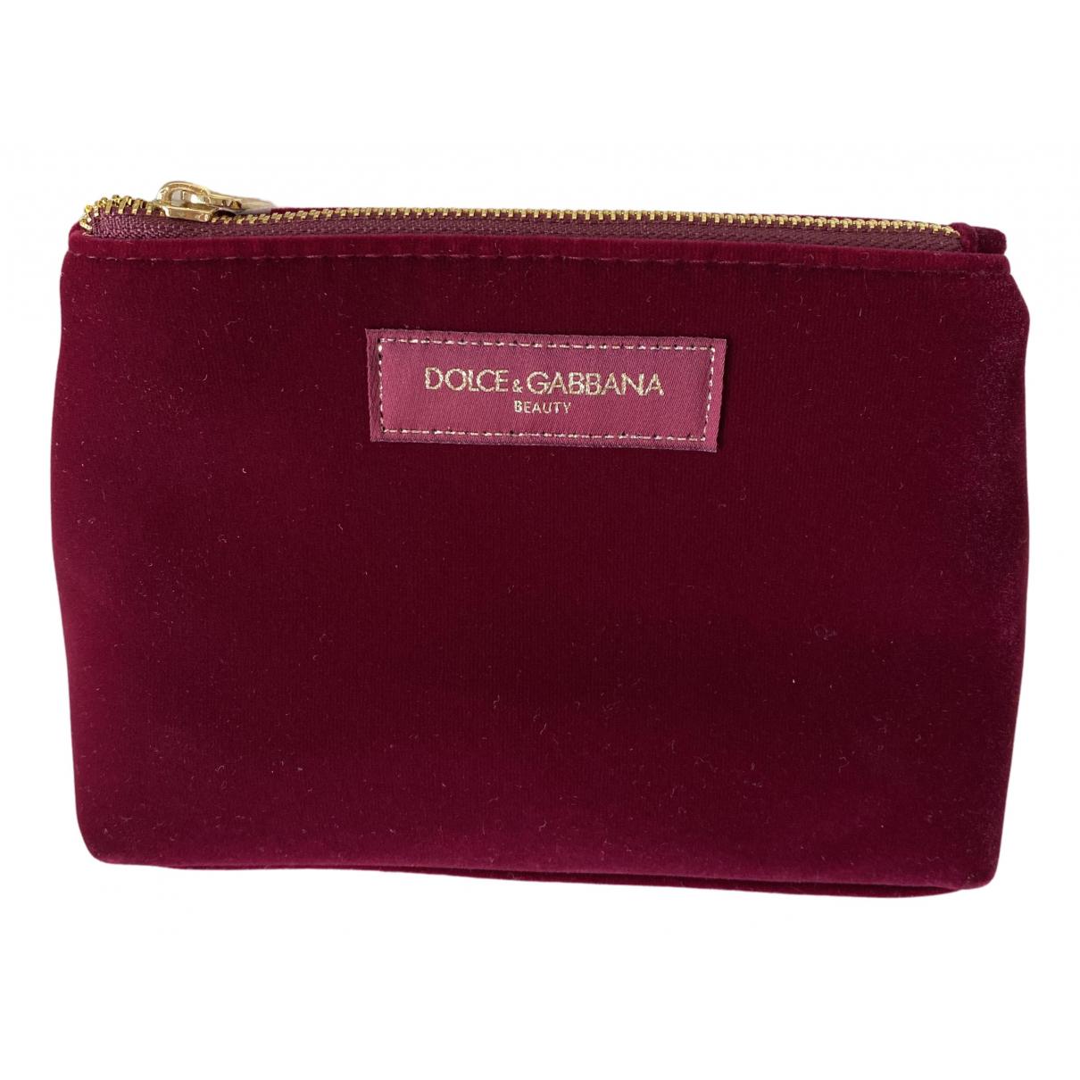 Dolce & Gabbana - Sac de voyage   pour femme en velours - bordeaux