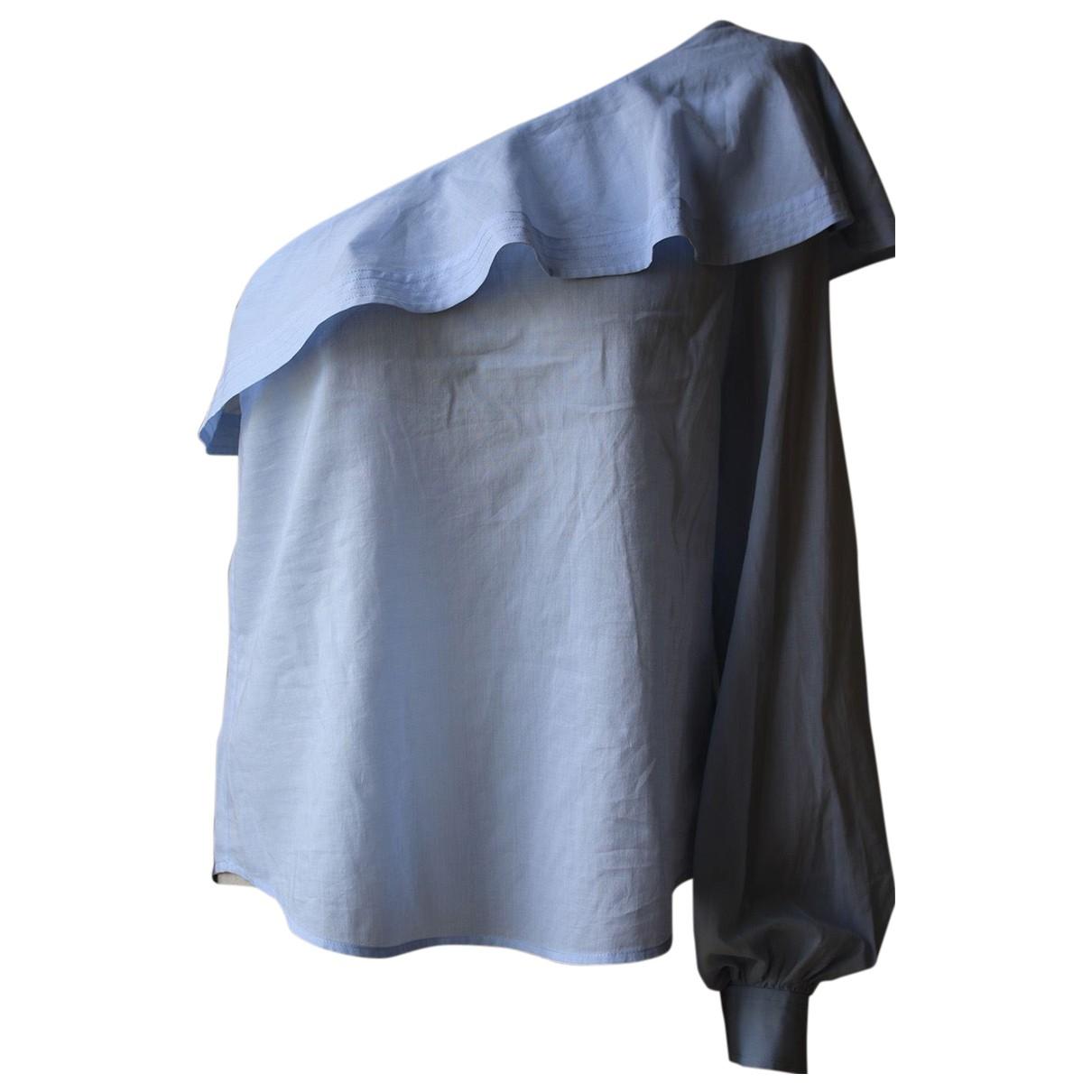 A.l.c - Top   pour femme en coton - bleu