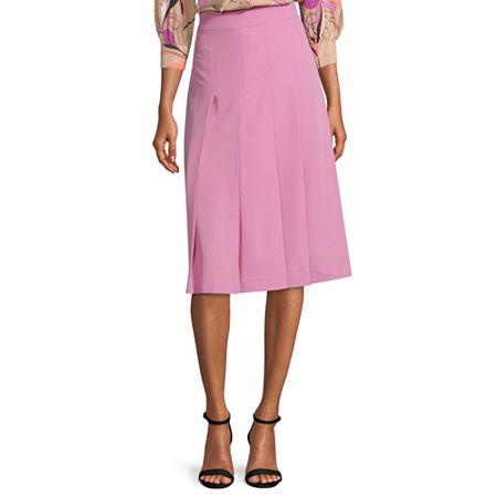 Worthington Womens Pleated Skirt - Tall, 18 Tall , Pink