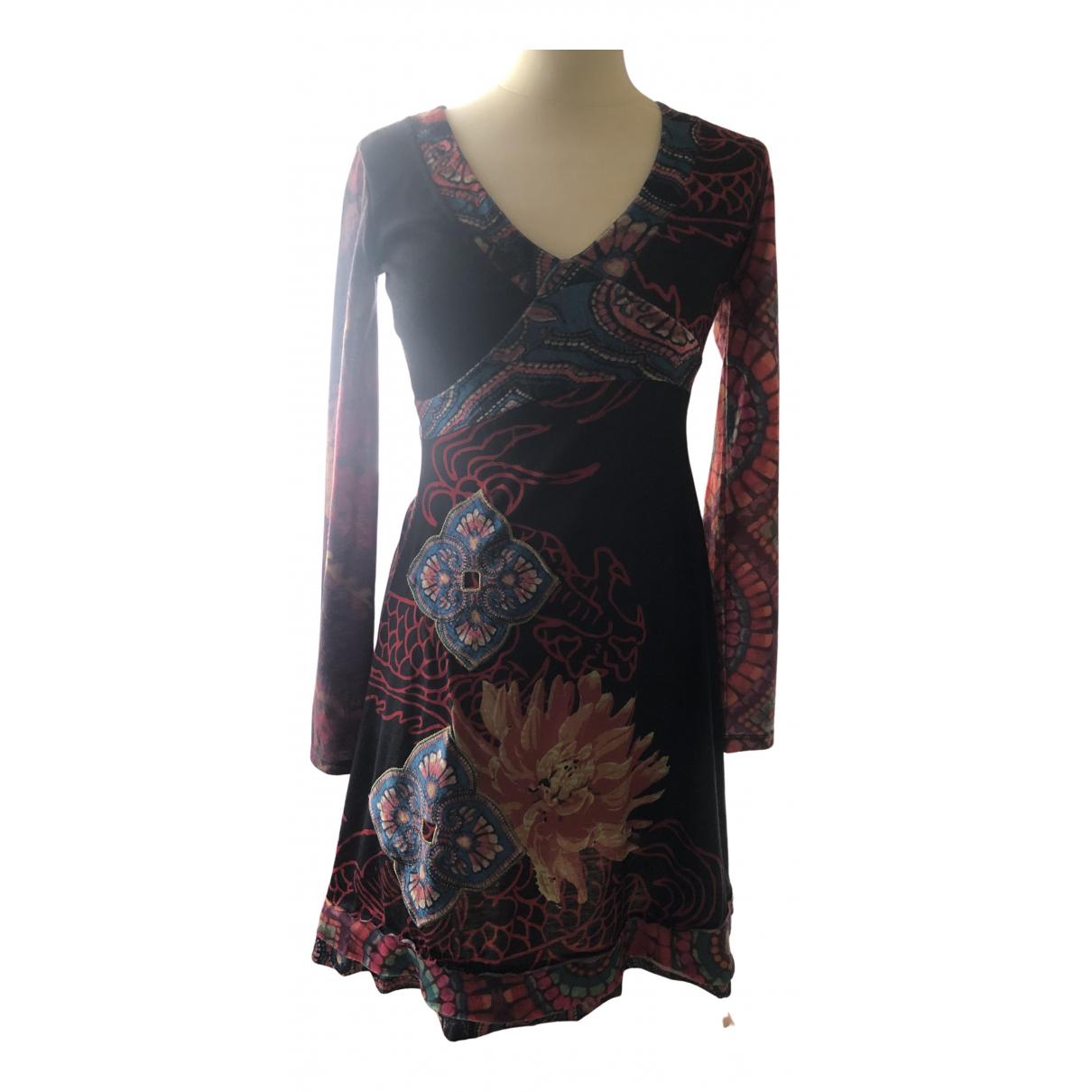 Desigual \N Kleid in  Schwarz Viskose