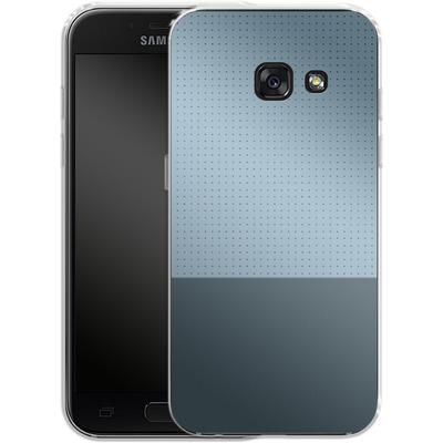 Samsung Galaxy A3 (2017) Silikon Handyhuelle - Dot Grid Blue von caseable Designs