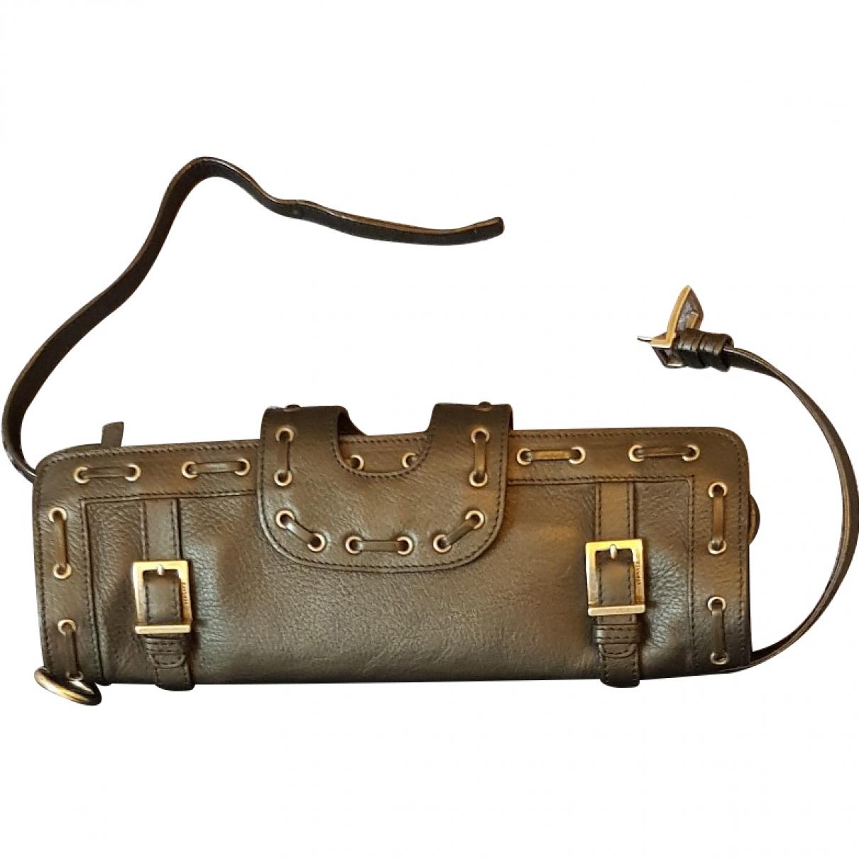 Versace \N Black Leather Clutch bag for Women 80 cm