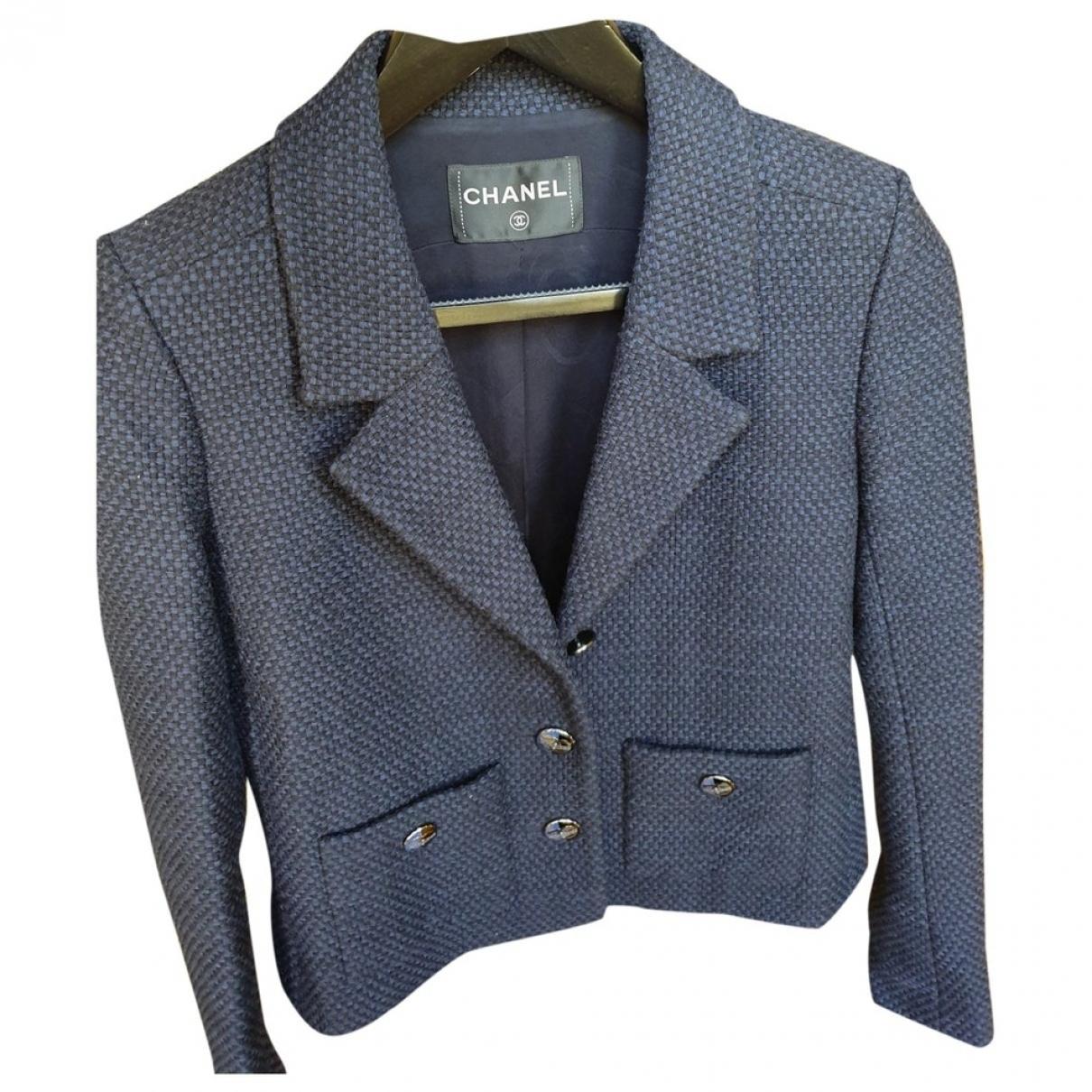 Chanel - Veste   pour femme en coton - bleu